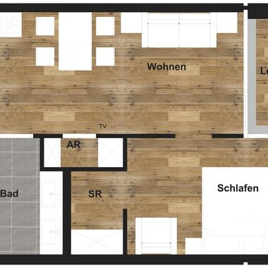 2 room apartment standard