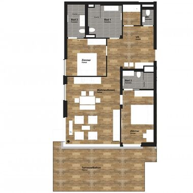 3 room apartment deluxe