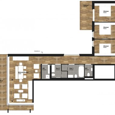 4 room apartment deluxe