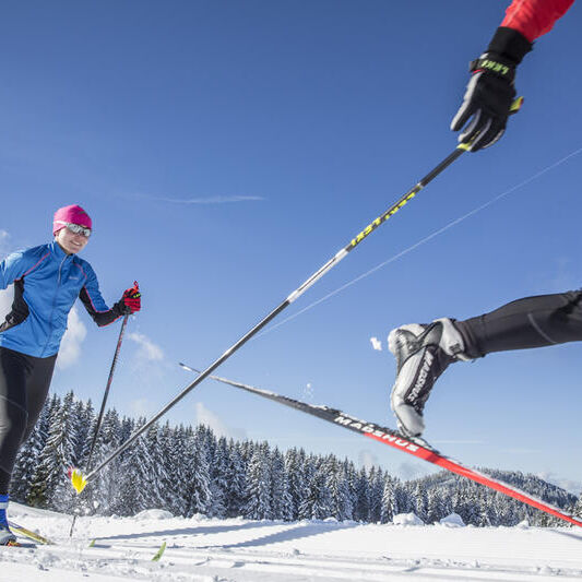 There are many possibilities of skiing in the ski area of Saalbach Hinterglemm.